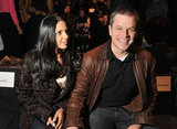 Matt and Lucy sat in the front row at Naeem Khan.