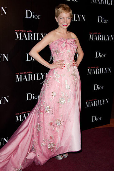 Michelle Williams Looks Pretty in Pink for My Week With Marilyn in Paris