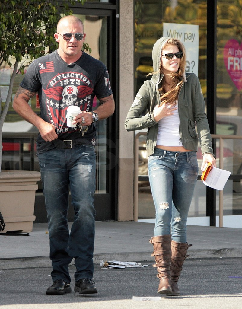 AnnaLynne McCord and boyfriend Dominic Purcell stuck together in LA.