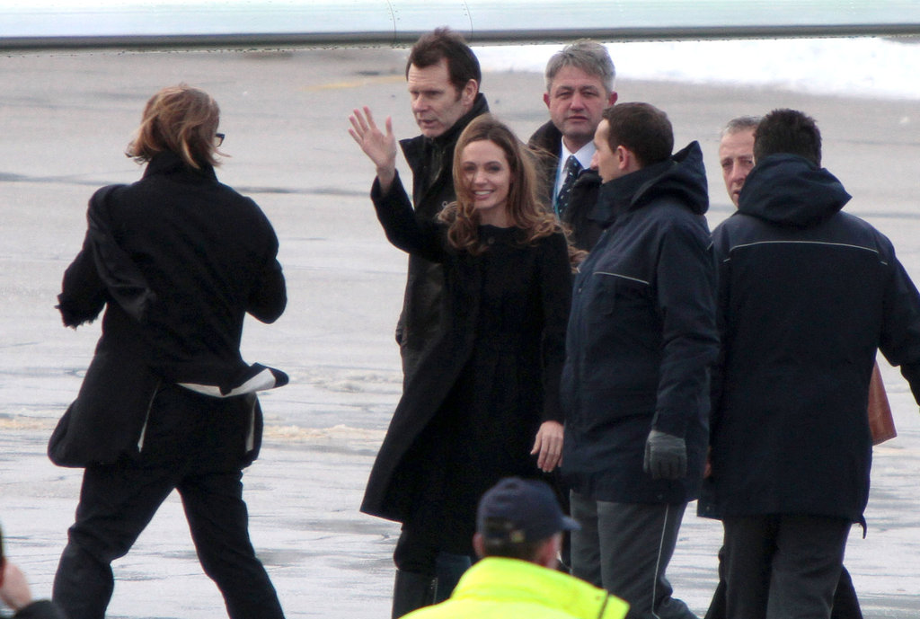 Angelina Jolie and Brad Pitt wrapped up a stay in Sarajevo.