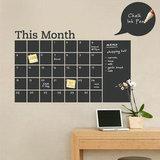 Vinyl Chalkboard Calendar Decal ($64)