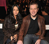 Matt Damon and wife Luciana sat front row at Naeem Khan.
