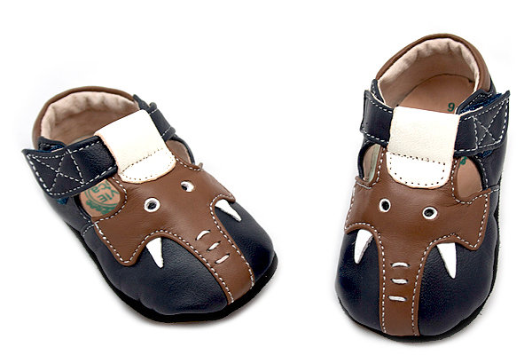 Livie & Luca Elephant Navy Soft Sole ($34)