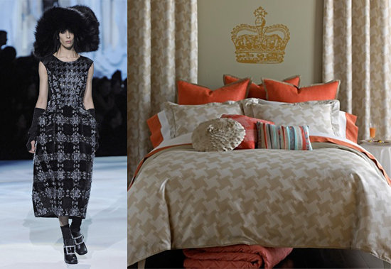 Larger Than Life Prints = Oversized Houndstooth Bedding