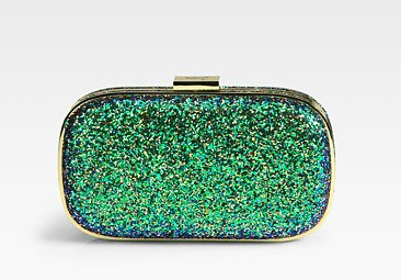 Anya Hindmarch glitter clutch ($595)