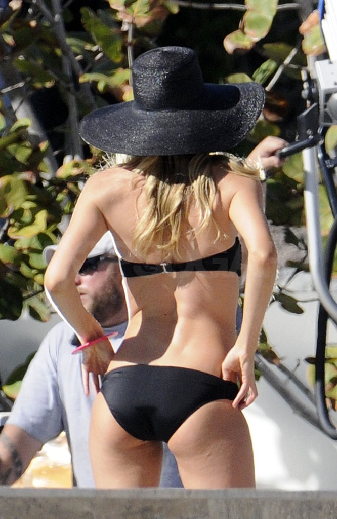 Doutzen showed off her assets in a sexy two-piece.