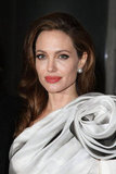 Angelina Jolie wore a floral gown.