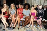 Petra Nemcova, Bar Refaeli, Stacy Keibler, Adepero Oduye, Jenna Dewan, and Taylor Momsen attended the Marchesa Fall 2012 fashion show during Mercedes-Benz Fashion Week at The Plaza Hotel.