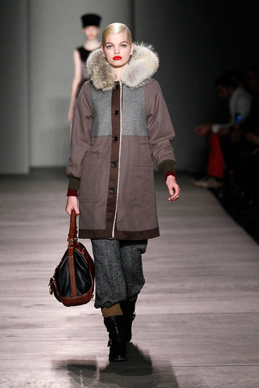 A textural coat from Marc by Marc Jacobs.