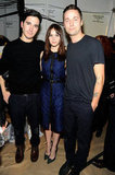 Lazaro Hernandez, Felicity Jones and Jack McCollough at Proenza Schouler