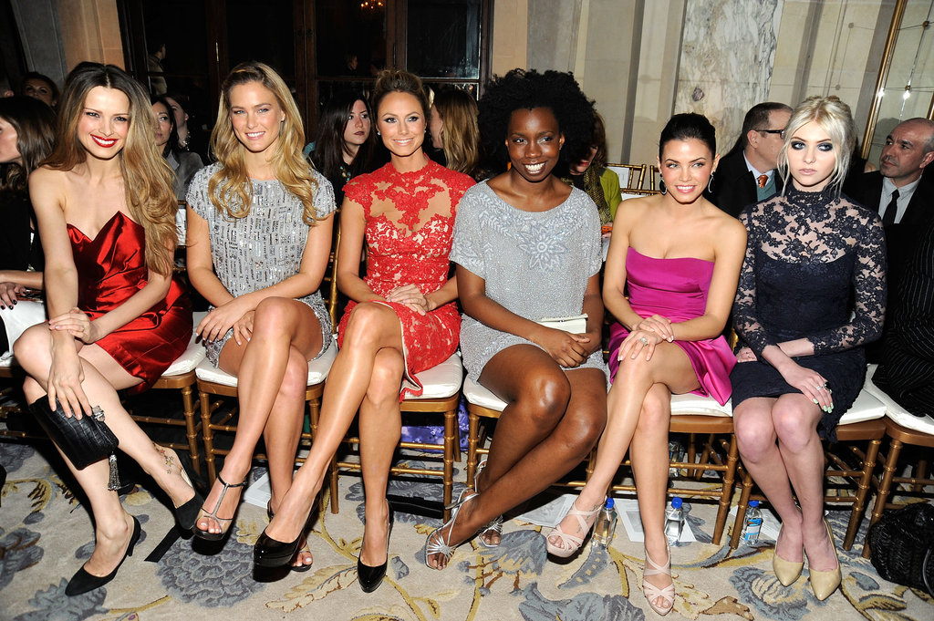 Petra Nemcova, Bar Refaeli, Stacy Keibler, Adeperi Oduye, Jenna Dewan and Taylor Momsen at Marchesa