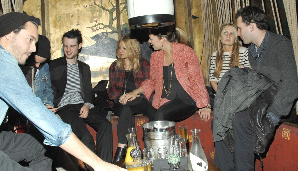 Sienna Miller and Tom Sturridge hung out with Jack Huston and Shannan Click.