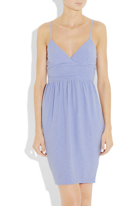 James Perse Ruched Stretch-Jersey Dress ($195)