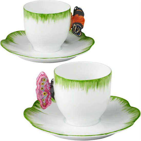 Maybe espresso is more your taste than a hot cup of tea. Bring some whimsy to your morning routine with this  Butterfly Espresso Cup and Saucer ($100) that's on sale for more than half off!