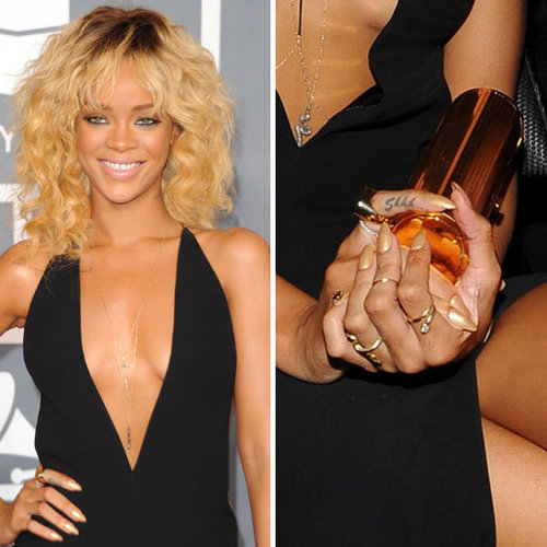 Rihanna's Gold Grammy Nail Polish Featured 24-Carat Gold and Retailed for $US5,000