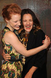Drew Barrymore and Jessica Chastain shared a laugh.