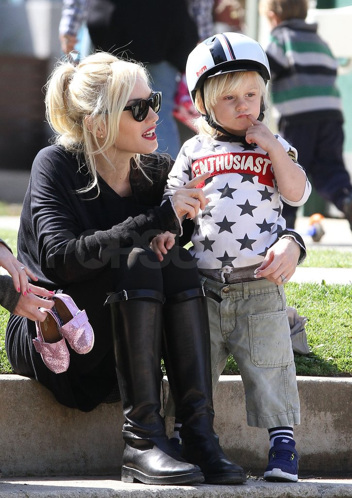 Gwen Stefani played with her son Zuma Rossdale.