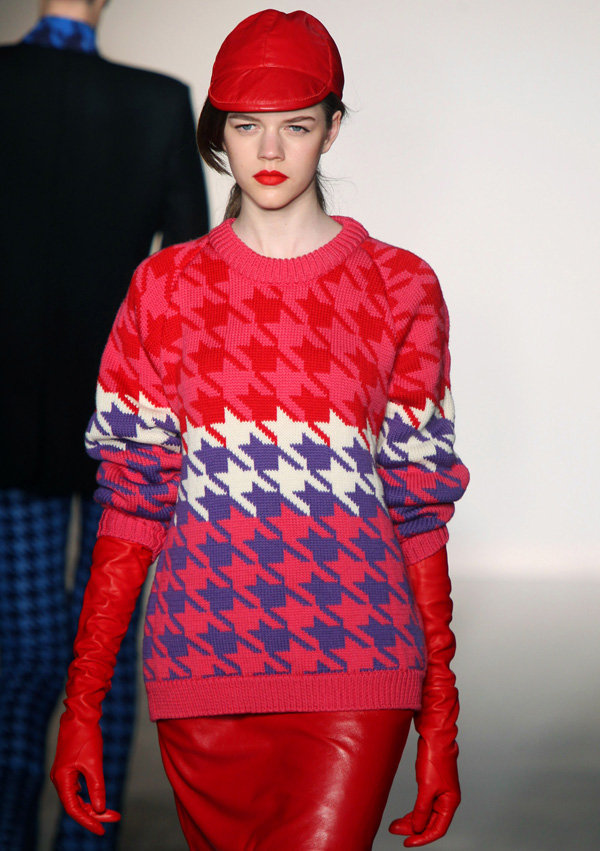 Pink Houndstooth Style Straight from the Runway