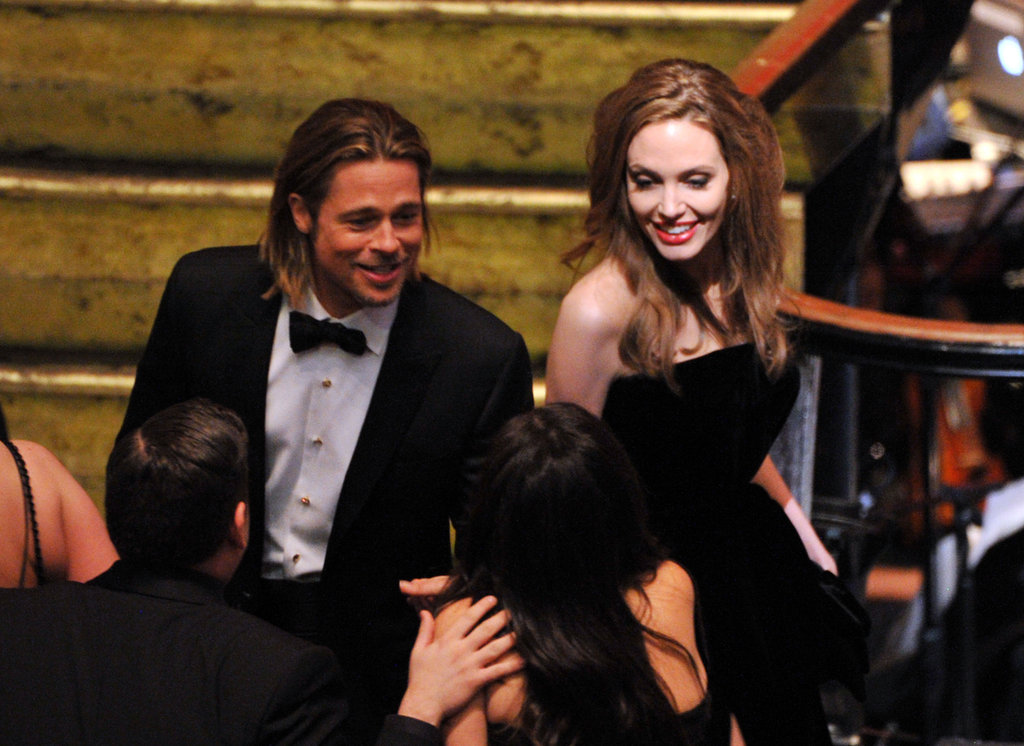 Angelina Jolie and Brad Pitt Mix and Mingle at the Oscars