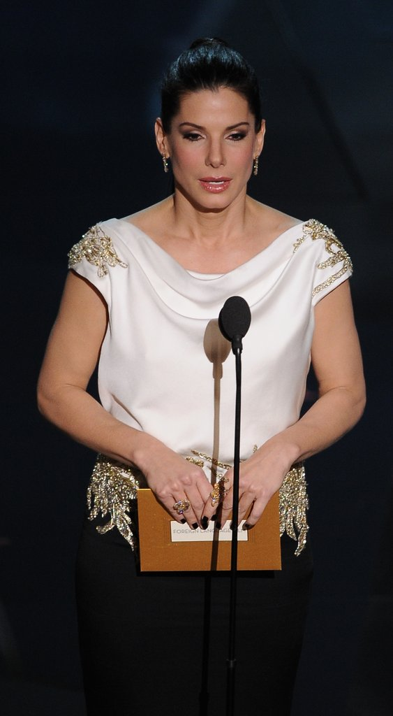 Sandra Bullock spoke German onstage.