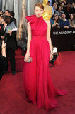 Emma Stone is a Lady in Red on the Oscars Red Carpet