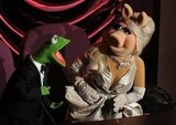 Kermit the Frog and Miss Piggy hammed it up in the balcony.