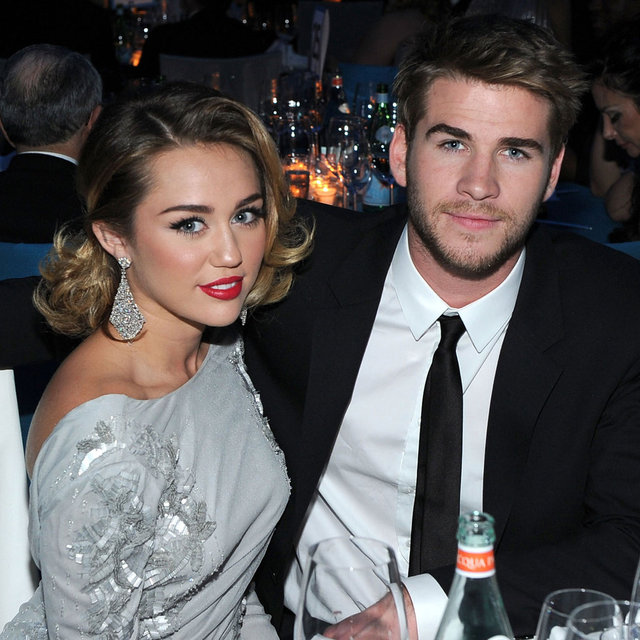 Miley Cyrus and Liam Hemsworth Pictures at 2012 Elton John Oscars Viewing Party