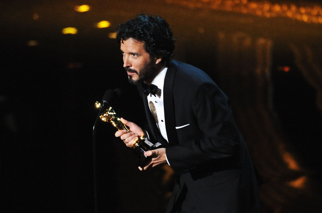 Bret McKenzie accepted his award for The Muppets soundtrack.