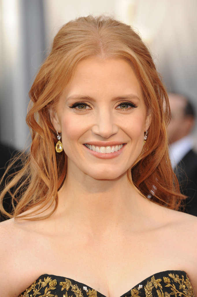Jessica Chastain posed in Harry Winston diamonds.