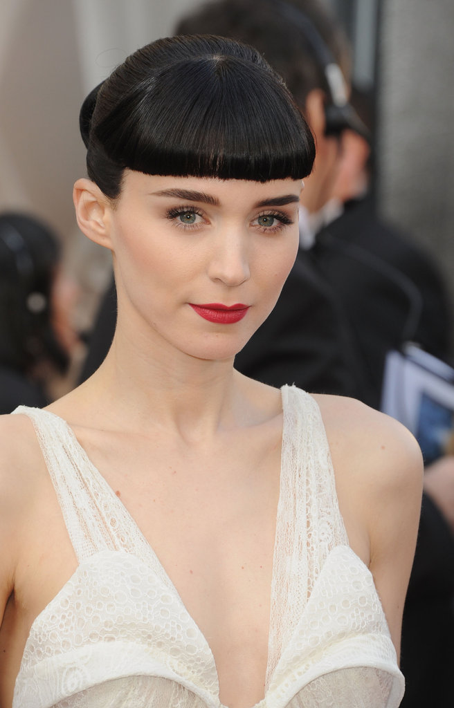 Rooney Mara in White Givenchy on the Oscars Red Carpet