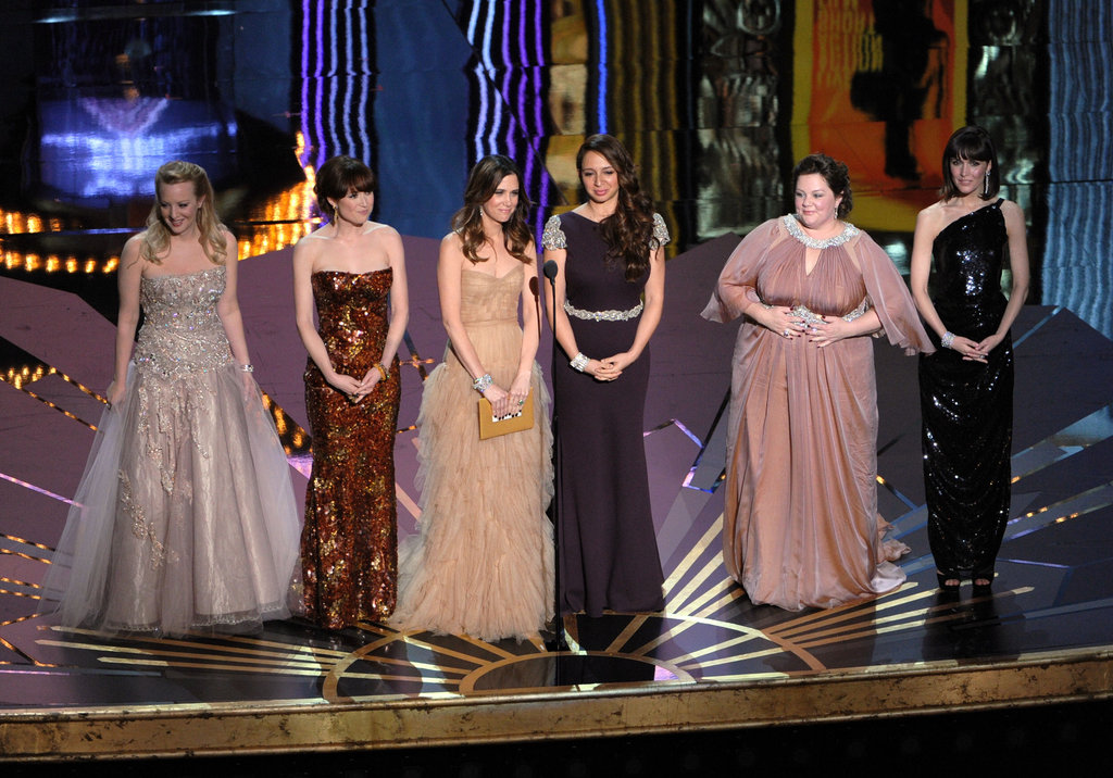 The ladies of Bridesmaids presented three awards together at the 2012 Oscars.