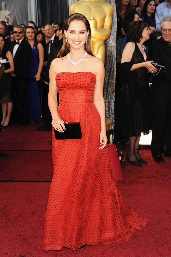 Natalie Portman at the Oscars 2012.
