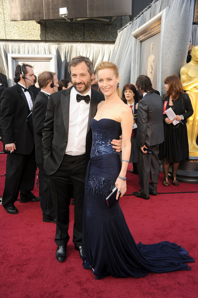 Judd Apatow and Leslie Mann