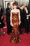 Bridesmaids star Ellie Kemper wore Armani Privé at the 2012 Oscars.