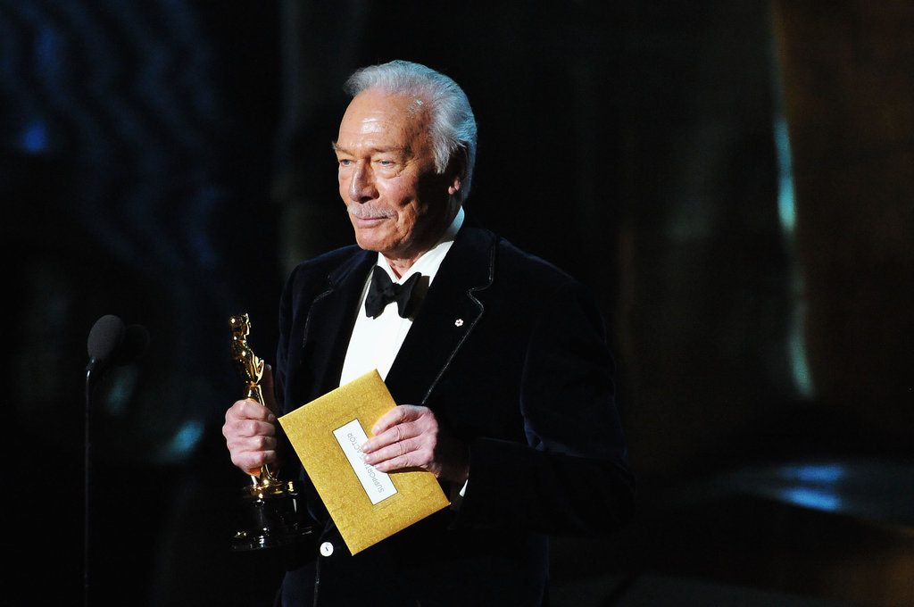 Christopher Plummer accepted his best supporting actor award for Beginners.