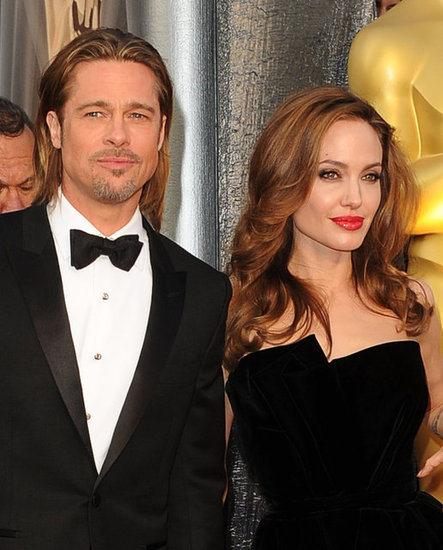 Brad Pitt and Angelina Jolie at the Oscars.