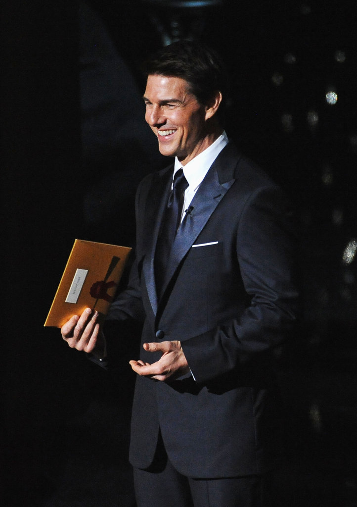 Tom Cruise presented the best picture award at the 2012 Oscars.