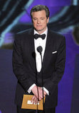 Colin Firth presented the best actress award at the 2012 Oscars.