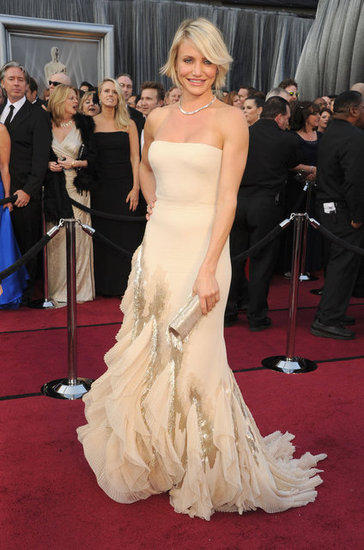 Golden Girl Cameron Diaz Arrives at the Academy Awards