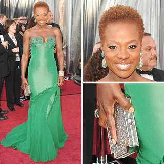 Viola Davis in Vera Wang at Oscars 2012