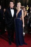 The Artist's Jean Dujardin and wife Alexandra Lamy made a gorgeous couple in their Oscars attire.