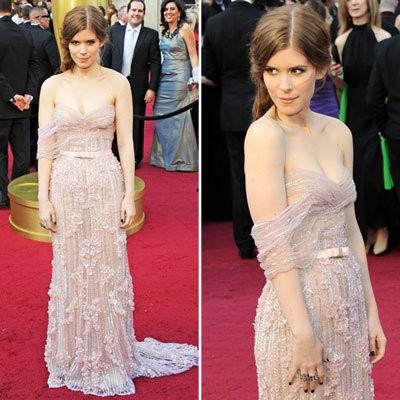 Kate Mara Goes the Girly Route in Beaded Elie Saab Gown at the 2012 Oscars: Love it or Leave it?