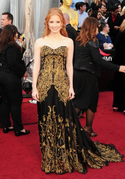 Jessica Chastain at the 2012 Academy Awards