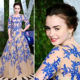 Lilly Collins at Vanity Fair Oscars Party 2012