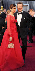 Colin Firth and Livia Giuggioli(2012 Oscars)