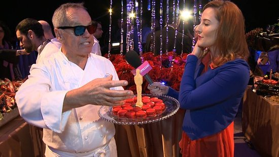 Wolfgang Puck Debuts a 3D Dessert at This Year's Governors Ball