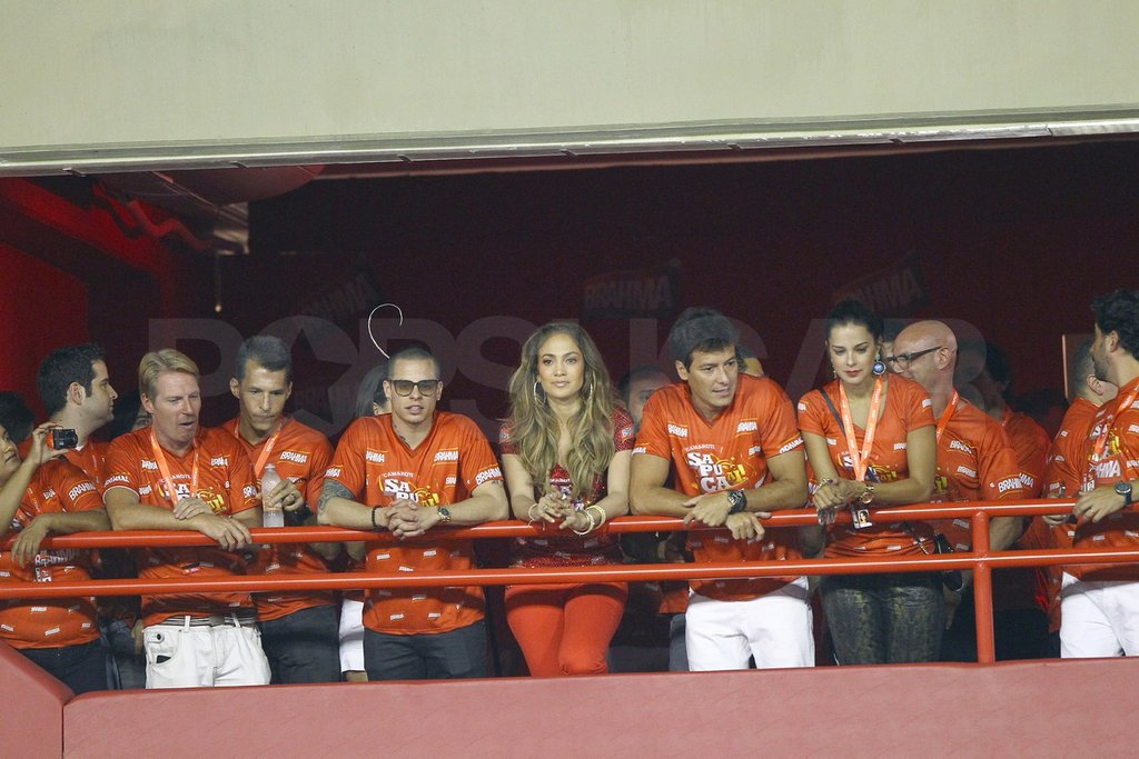 Jennifer Lopez watched the annual Carnival celebration from her VIP vantage point.