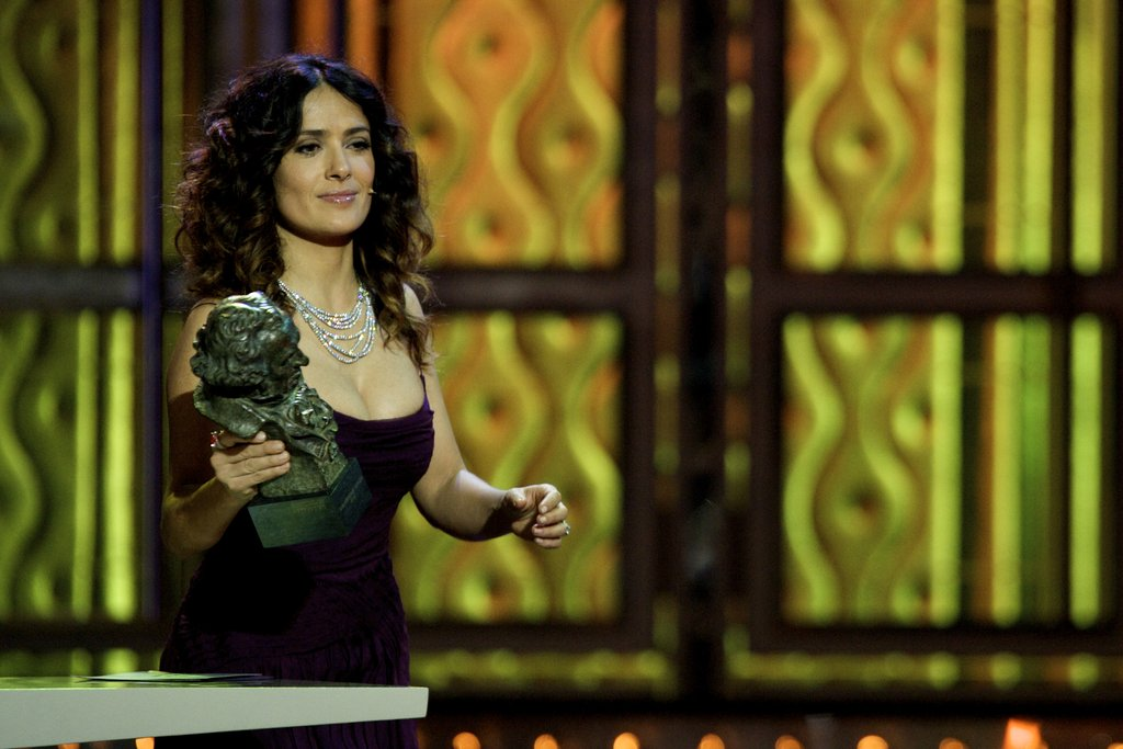 Salma Hayek was stunning on stage at the Goya Awards.