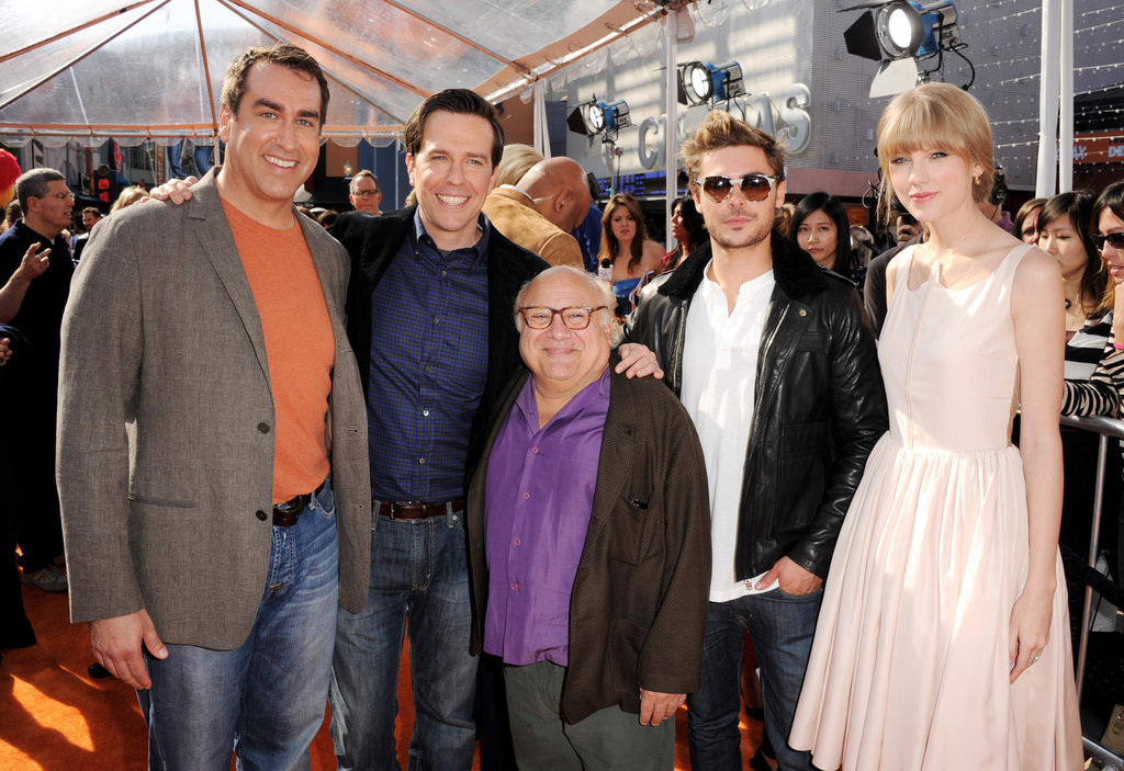 Taylor Swift and Zac Efron posed with their costars.