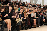 Rosie Huntington-Whiteley and Kate Bosworth sat front row at the Burberry show at Fashion Week